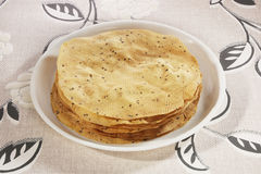 Pappadams, indiano Desi Snack fotografia de stock royalty free