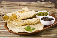 Pappadams with Ingredient. Indian Food stock image