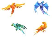 Pappagalli di Origami illustrazione di stock