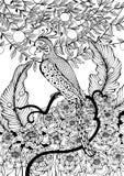 Pappagallo che si siede sul ramo royalty illustrazione gratis