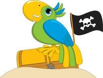 Pappagallo del pirata Immagini Stock Libere da Diritti