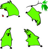 Pappagallo verde illustrazione di stock