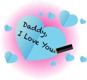 Pappan älskar jag dig Royaltyfri Bild