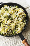 Pappardelle with broccoli Stock Images