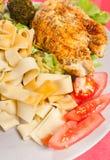 Pappardelle da galinha e da massa Imagem de Stock