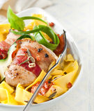 Pappardelle Italian noodles Stock Images