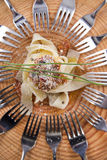 Pappardelle with meat sauce Royalty Free Stock Photos