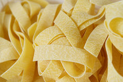 Pappardelle Pasta Background, Closeup Royalty Free Stock Photo