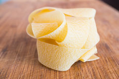 Pappardelle pasta Stock Image