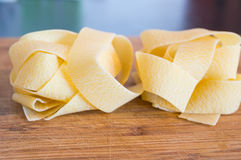Pappardelle pasta Royalty Free Stock Photos