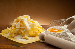 Pappardelle pasta homemade Stock Photography