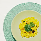 Pappardelle pasta Stock Photography