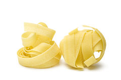 Pappardelle pasta isolated Stock Images