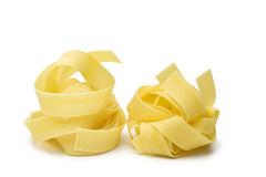 Pappardelle pasta isolated Stock Image