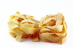 Pappardelle pasta isolated Royalty Free Stock Images