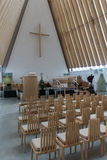 Pappdomkyrka Christchurch NZ Royaltyfri Foto