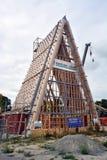 Pappdomkyrkan tar Shape i Christchurch som är nyazeeländsk Royaltyfria Bilder