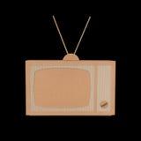 Pappe-Fernsehen Lizenzfreies Stockbild