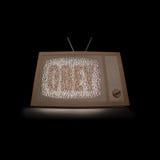 Pappe-Fernsehen Lizenzfreie Stockbilder