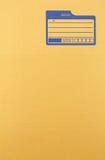 Pappe mit Leerstelle für Adresse Stockbild