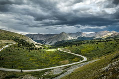 Pappel-Durchlauf, Wasserscheide Colorados Lizenzfreies Stockfoto
