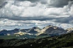 Pappel-Durchlauf, Wasserscheide Colorados Lizenzfreies Stockbild