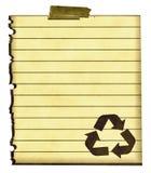 papper återanvänder tecknet royaltyfri bild