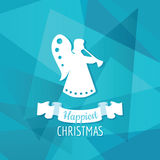 Papper Angel Christmas Arkivbild