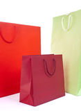 Papper bag. S in different colors on white background stock photo