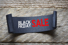 Papper with black friday sale Royalty Free Stock Photo