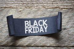Papper with black friday Royalty Free Stock Photography