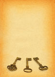 papper för 2 tangenter Arkivfoto