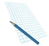 Papper för anmärknings- och blåttblyertspenna Royaltyfri Foto