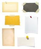 papper för brun anmärkning för bakgrund gammalt vektor illustrationer