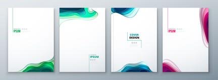 Papper för designen för papperssnittbroschyren snider den abstrakta räkningen för design för katalog för broschyrreklambladtidskr vektor illustrationer