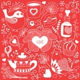 papper för förälskelse för bakgrundskortgrunge Royaltyfri Illustrationer