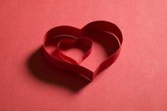 papper för förälskelse för begreppsramhjärta Fotografering för Bildbyråer