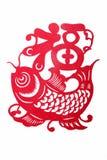 papper för fu för kinessnitt folk stock illustrationer