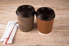 papper för kaffekopp Arkivfoto