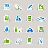 papper för kontor för affärssnittsymboler vektor illustrationer