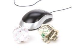 papper för mus för bollkalenderdator Arkivbilder