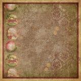 Papper för tappningbakgrundscollage - Autumn Leaf Flourish - bekymrat - nedgången - granatäppleDigital papper stock illustrationer