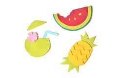Papper för tropiska frukter som klipps på vit bakgrund arkivbild