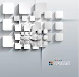 Papper för vektorn 3d kvadrerar modern design Arkivbilder