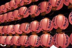 Papper Lanter på den Taipei nattmarknaden Arkivfoton