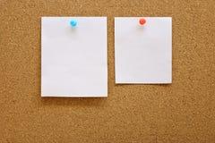 Papper med corkboard Royaltyfri Fotografi