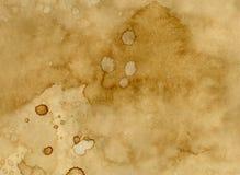 Papper med kaffefläckar Arkivfoto