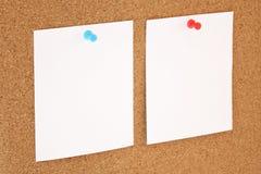 Papper och corkboard Royaltyfri Bild