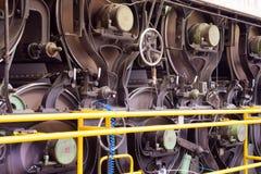 Papper och trämassa mal - fabriken, växt Arkivfoto