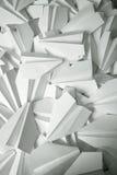 papper planes white Arkivbild